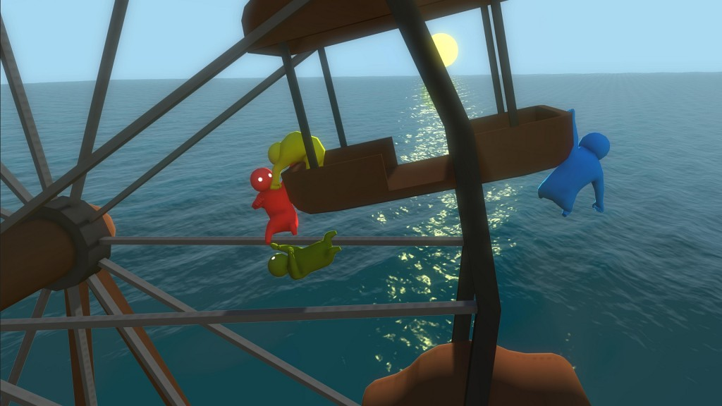 Gang Beasts is probably the closest you'll ever get to throwing your friends off of a ferris wheel. I hope.